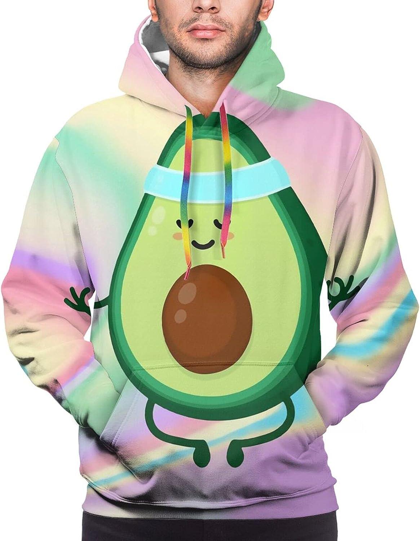 Hoodie For Mens Womens Teens Avocado Rainbow Splash 3d Printed Hooded Sweatshirt