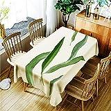 XXDD Mantel Rectangular Lavable a Prueba de Polvo con Estampado de Hojas de Ginkgo Verde Simple A10 140x160cm