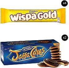 McVities Jaffa Cakes Two Boxes + Cadbury Wispa Gold | Total 4 bars of British Chocolate Candy - Cadbury Wispa Gold 48g each