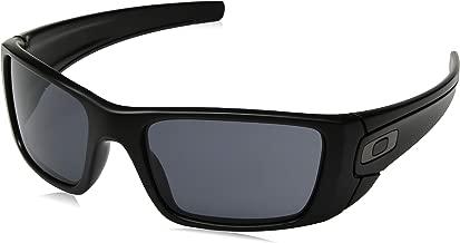Oakley Men's OO9096 Fuel Cell Rectangular Sunglasses, SI Matte Black/Grey, 60 mm