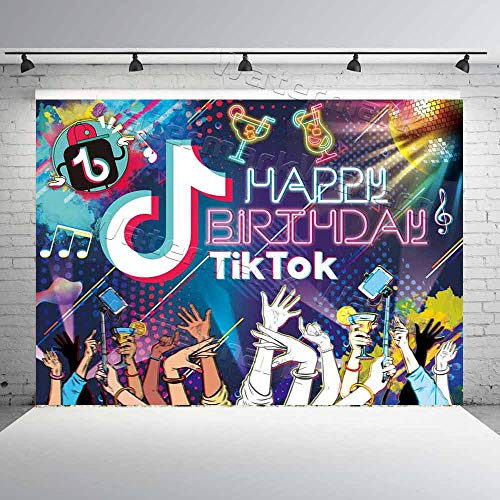 TIK Tok Birthday Banner Party Decoration
