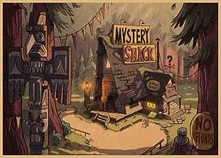 LDTSWES® Rompecabezas de Dibujos Animados sin Marco, Rompecabezas de Madera de 1000 Piezas, para Juegos con Miembros de la Familia Puzzle 75X50Cm-Gravity Falls