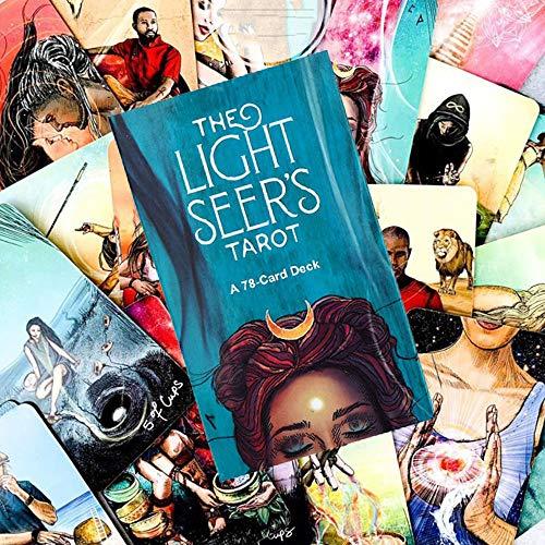 Baraja Tarot,The Light Seer's Tarot Deck 78 Cartas,Tarot Cartas,Tarjeta de Adivinación,Juego de Cartas,Prueba de Destino(Idioma en Inglés)