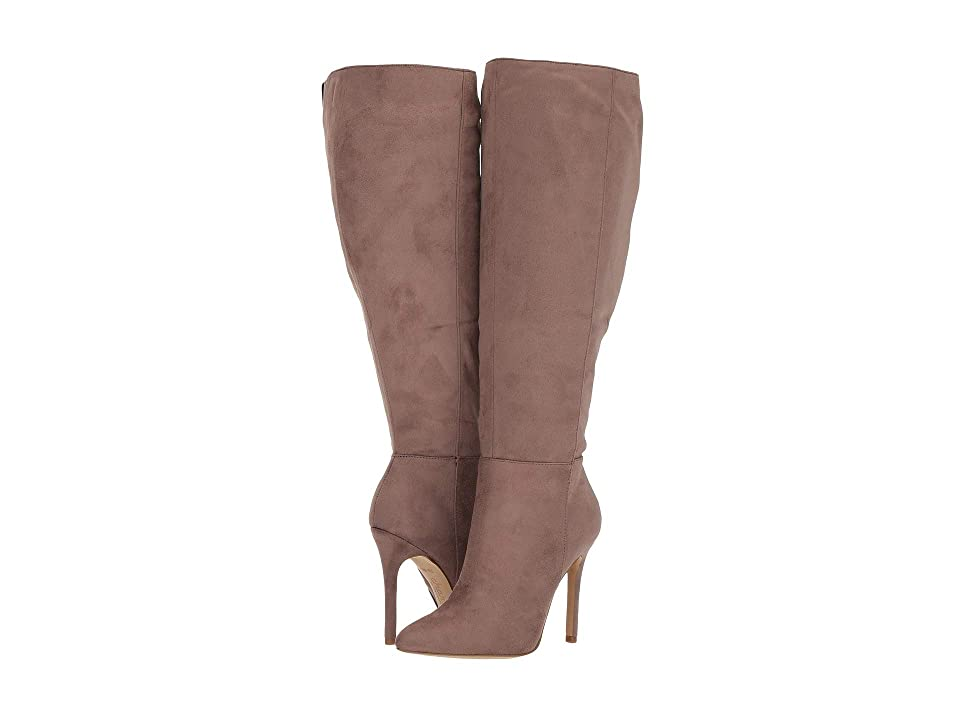 Charles by Charles David Dallan Wide Calf Boot (Taupe Stretch) Women