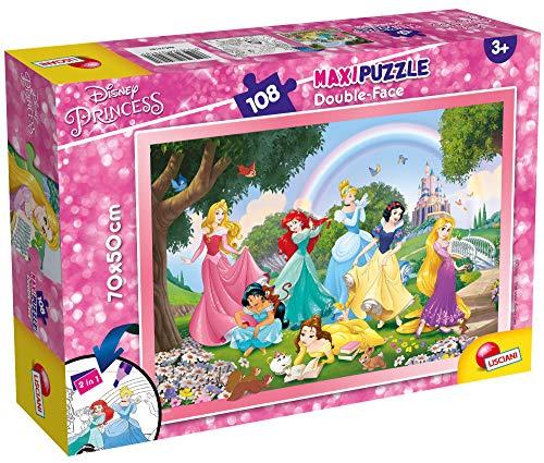 Lisciani Giochi Tit 2 Disney Puzzle DF Supermaxi 108 Princess, Rainbow World, Multicolore, 74181