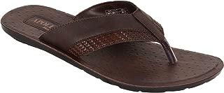 BATA Men Formal Brown Flip Flops - Slipper