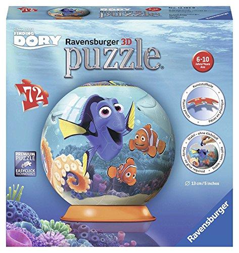 """Ravensburger Disney """"Findet Dorie"""" 3D-Puzzlekugel, 72Teile"""