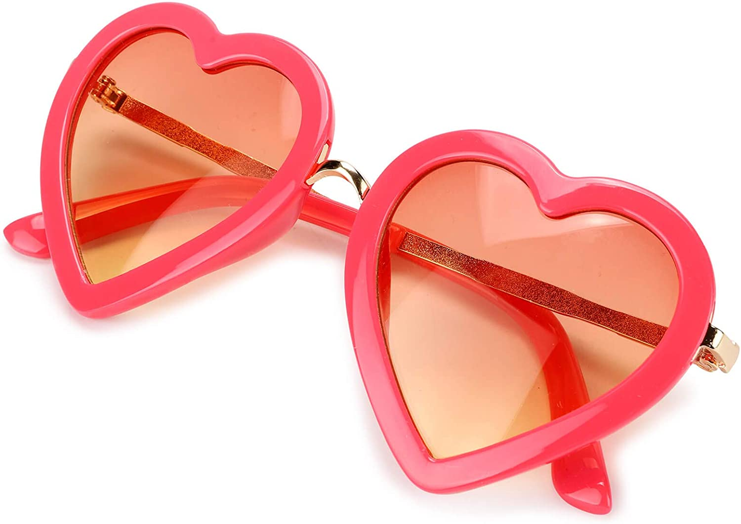 Mibasies Kids Heart Shaped Sunglasses for Toddler Girls Age 3-10, UV 400 Protection