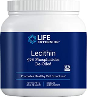 Life Extension Lecithin (97% Phosphatides De-Oiled), 16 Ounces