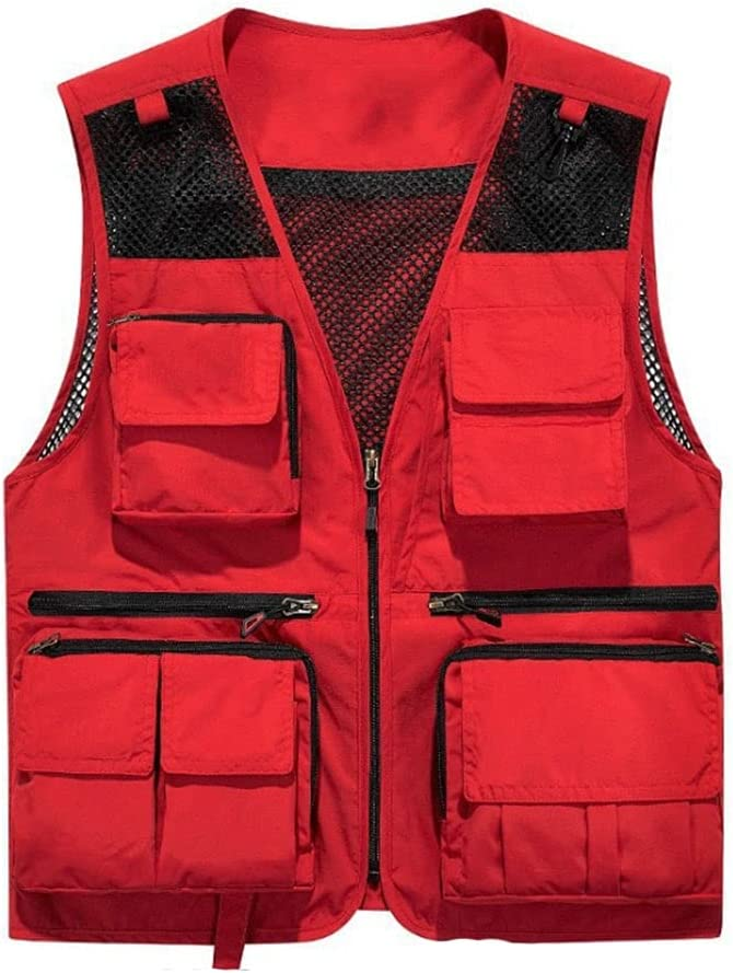 Fishing Vests for Japan Maker New Men Lightweight Multi-Pockets Indianapolis Mall Ves Vest