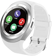 Smart Watch, SN05 Smartwatch Round Sport Watch with SIM Card Slot Touch Screen Smart Watches Compatible with Samsung Huawei Xiaomi Motorola Android Phones iPhone for Men Women Kids Boys Girls (White)
