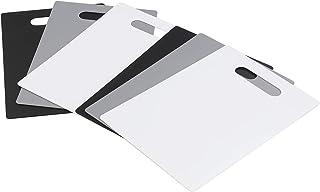 Kiddream Set of 6 Plastic Kitchen Cutting Mat, Chopping Board Mats