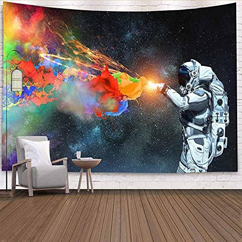 Psychedelischer Astronaut Tapisserie Wandhalterung Psychedelischer Wandteppich Cosmic Wandtuch Tapisserie Tapisserie A4 180x200cm