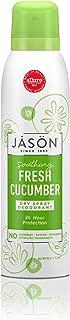 JASON Soothing Fresh Cucumber Dry Spray Deodorant, 3.2 Ounce Bottle