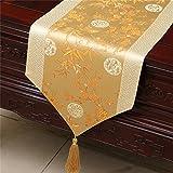 TREE- Chinese Classical Plum Tela De Bambú Corredores De Tabla, Amarillo Claro, Home Decoraciones De La Sala De Estar (Tamaño : 33 * 200CM)