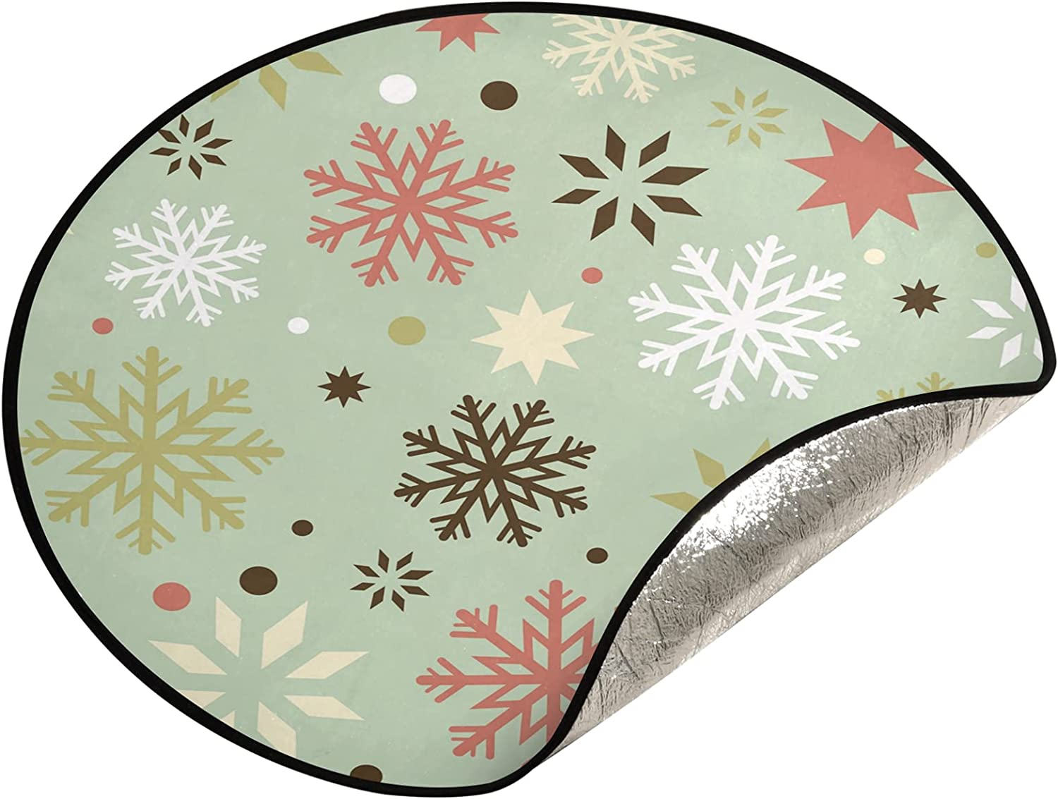xigua 28.3 Inch New product!! Christmas Tree Stand Mat - National products Snowflakes