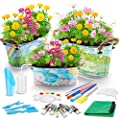 38PCS Kids Flower Planting Growing Garden Kit - Richoose Kids Gardening Plant and Paint Arts Crafts Set for Kids All Ages Both Girls and Boys Science STEM