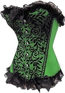 a57168083d Y Fashion Womens Sexy Lace Brocade Corset Bustier Shapewear