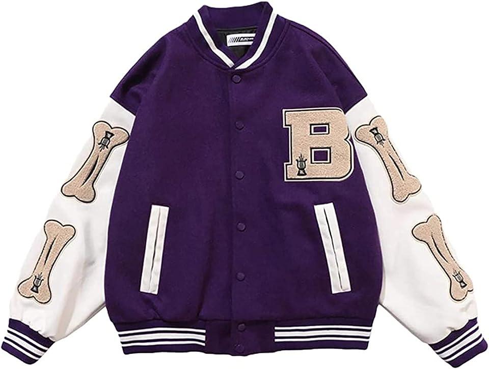 College Jacke Herren Vintage Baseball Sportjacke Sweatjacke Streetwear Mäntel