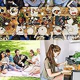 Fuyit Einweggeschirr Einwegteller Set 200 Stück, Kompostierbar und Biologisch Abbaubar Ökologisch Pappteller, Gabeln, Messer und Löffel kombiniert,für Grillfest, Camping, Picknick oder Party-Weiß - 3