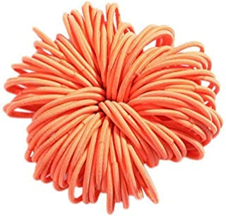 MOPOLIS Children Girls Stretchy Rubber Band Hair Ropes Ponytail Holder B98B | Colors - Orange