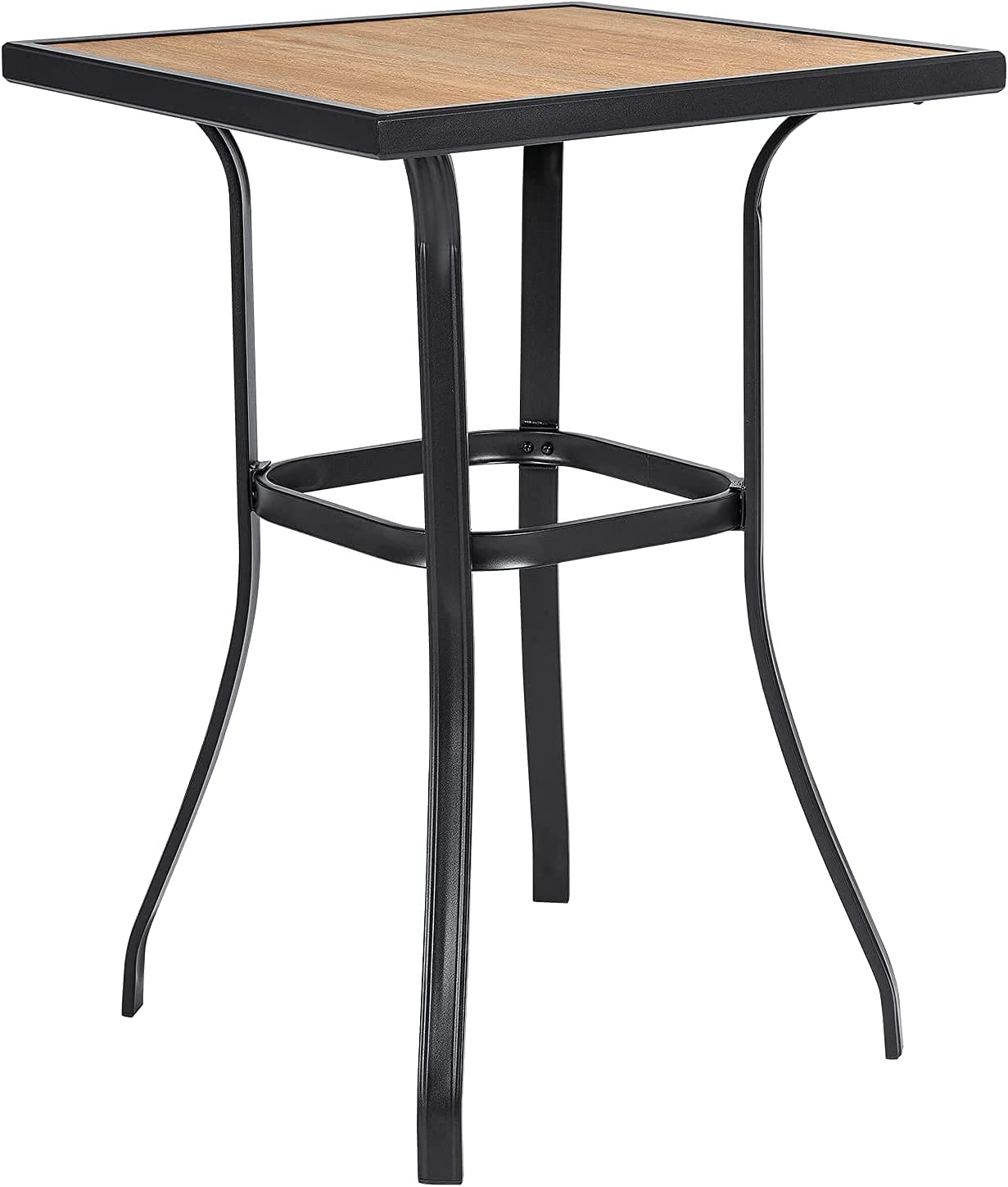 SOLAURA 通販 初売り Patio Bar Table Outdoor Bistro with Height 39