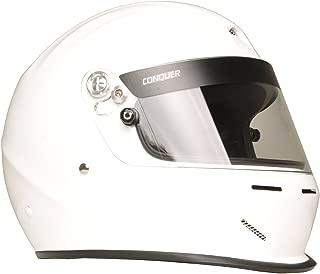 Conquer Snell SA2015 エアロダイナミック ベント付きフルフェイス オートレーシングヘルメット S ホワイト 350-FFVNTSA15-WHT-S