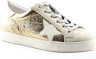 PARTY Women Casual Star Lace up Low Top Fashion Sneakers-Half Size Small