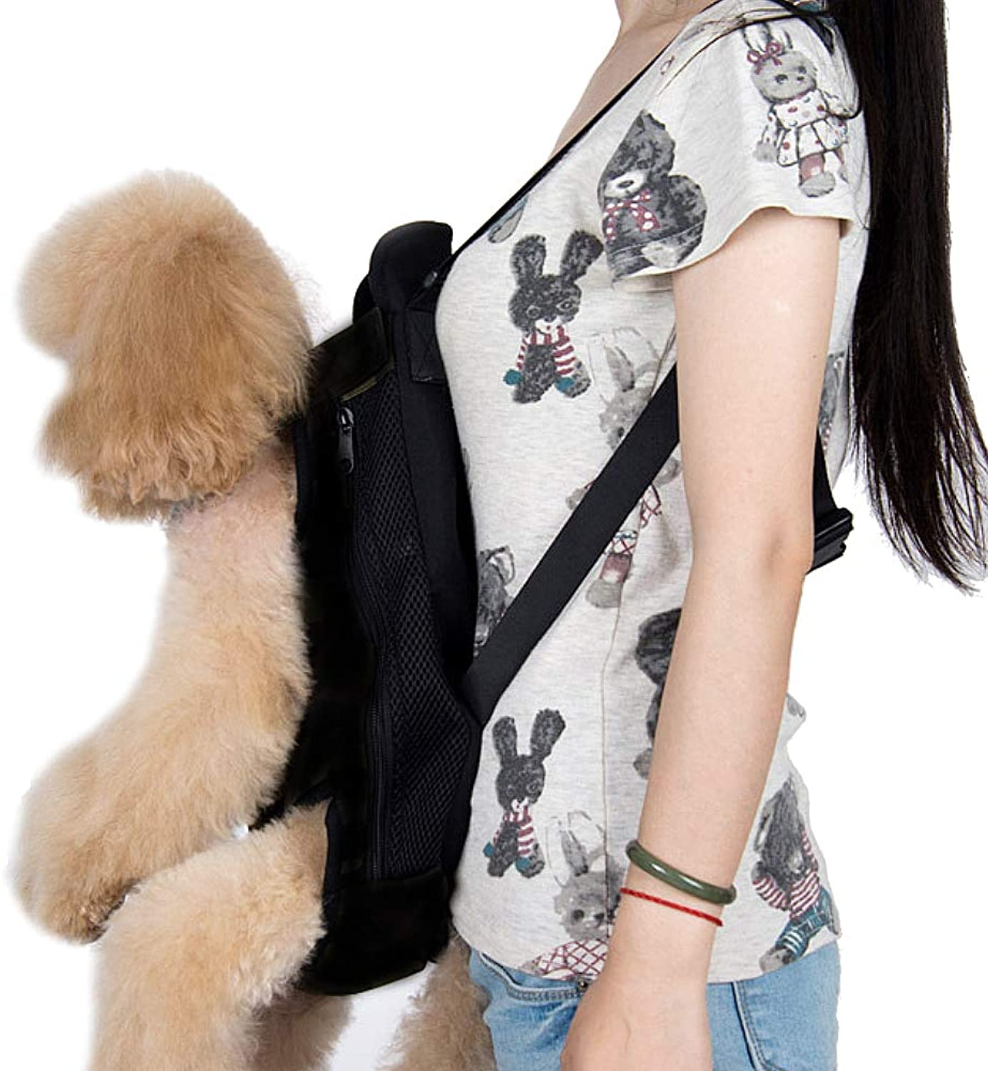 Bosiwee Facing Dog Cat Carrier Legs Out Front Pet Carrier HandsFree Adjustable Backpack Carrier Small Medium Pets
