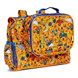 Bixbee Kids Backpack & Lunch Box Set, Water Resistant & Easy to Carry Kids Book Bag and Matching Lunchbox, Construction Truck Set of Two.