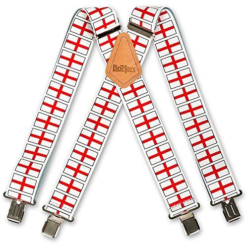 Flag Design Braces Brimarc - Bretelles - Homme Blanc White, Red Taille unique