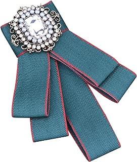 Anqeeso Broche de Boda con Perla de Cristal para Mujer
