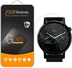Supershieldz (2 Pack) for Motorola Moto 360 46mm (2nd Gen) Tempered Glass Screen Protector, Anti Scratch, Bubble Free