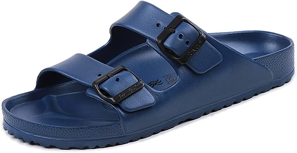 Mens Lightweight EVA Summer Beach Comfort Footbed Slider Sandals
