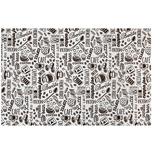 S&T INC. 505601 Coffee and Java Maker Mat, 12'x18', Typography