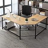 FFAN Shaped Corner Desk Home Office Industrial Style Large Desktop Computer Gaming Desk Corner Desk Simple Modern Home Study Computer Desktop Desk L-Shaped Corner Table Student Writing Desk Good Life
