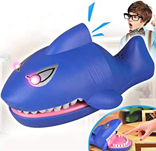 Liberty Imports Shark Dentist Electronic Classic Biting Hand Game for Kids (Evil Laughter, Glowing Eyes, More Fun Than Crocodile)