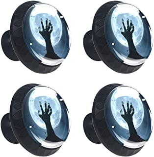 Scary Hand Under the Moon - Tirador cuadrado para cajón con tornillos para decorar el hogar armario y aparador 4 unidades
