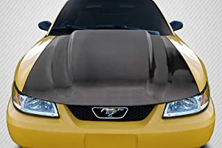 Carbon Creations Replacement for 1999-2004 Ford Mustang Cowl Hood - 1 Piece