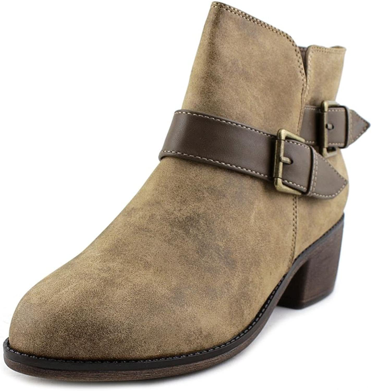 SEVEN DIALS Womens Yosepha Closed Toe Ankle Fashion Boots, Stone, Size 10.0