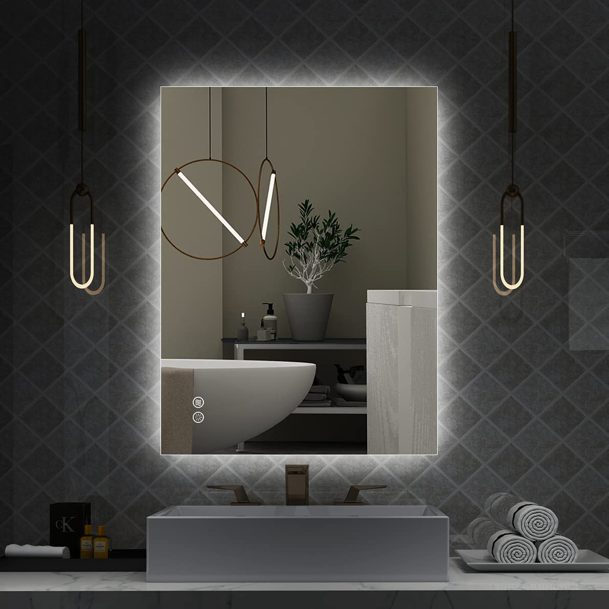 Buy Istripmf Led Bathroom Mirror 24 X 32 Inch Anti Fog Mirror Lights With Lights For Wall Dimmable Brightness Memory Etl Listed And Support Wall Switch Horizontal Vertical Online In Germany B08h4g5wbb