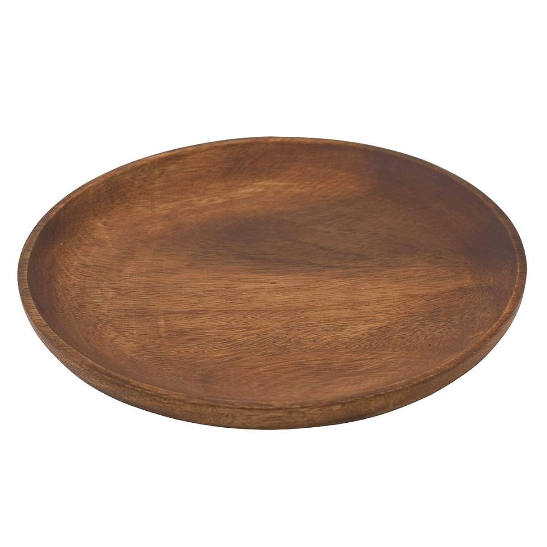 酸素解凍する、雪解け、霜解け頭痛かのりゅう 大皿 ブラウン 直径30×高さ2.5cm
