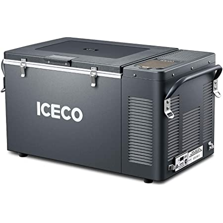 ICECO VL35 Portable Expandable Refrigerator, 12 Volt Fridge Freezer, Full Steel Cabinet, 4 Sizes in One, Powered by SECOP (37 Quart, Original Version, Extension Kit Not Included)