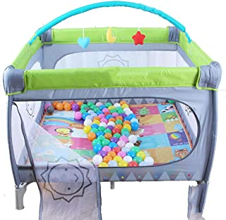 Hfyg Playpens Baby Playpen Safety Fence Activity Centre Indoor Anti-Fall Play Pen Safe Play Area Anywhere Fold with Carrying Strap For Easy Travel pens  Color