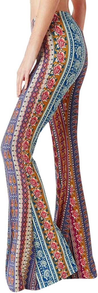 Direct Super intense SALE stock discount aihihe Wide Leg Pants for Women Waist Floral Pr Casual Boho High