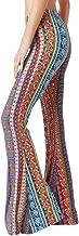 JESPER Women Tight Print Tie Dye Bell Bottoms Leggings High Waist Stretchy Yoga Sports Pants
