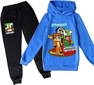 ZKDT Juego de sudadera con capucha unisex con estampado bonito y contro de manga larga con capucha y pantalones de jogging.
