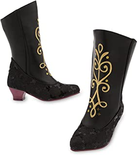 Disney Frozen Anna Costume Boots for Kids Size 11/12 YTH Black