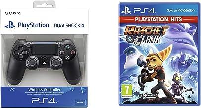 Sony - Dualshock 4 V2 Mando Inalámbrico, Color Negro V2 (PS4) + Ratchet And Clank Hits