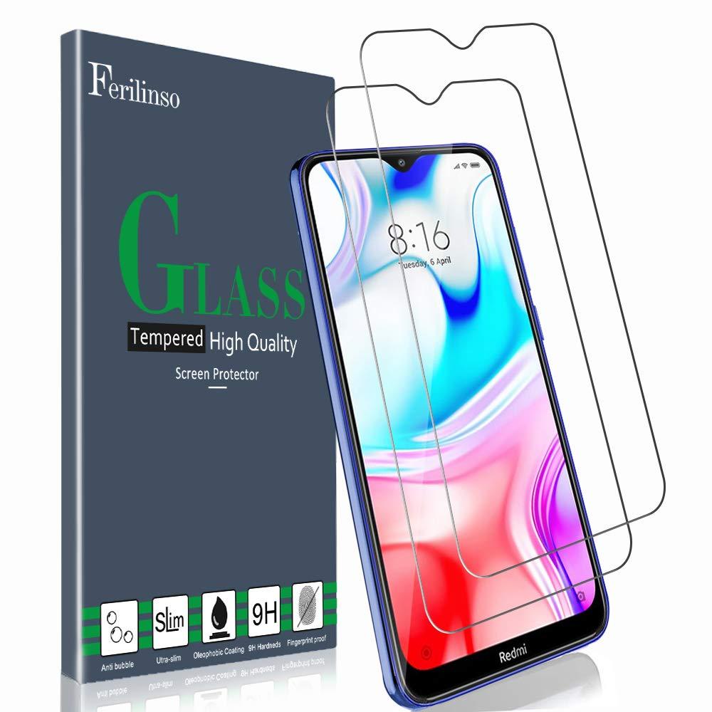 Ferilinso [2 Piezas] Protector de Pantalla para Xiaomi Redmi 8, Redmi 8A Dual, Redmi 8A, Cristal Templado Vidrio Templado, [Compatible con la Funda][2.8d Borde Redondo] [Alta Definición][Anti-Huella]: Amazon.es: Electrónica